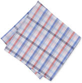 Bar III Men's Coral Blue Check Pocket Square, Only at Macy's