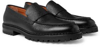 Lanvin Pebble-Grain Leather Loafers