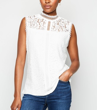 New Look Lace Sleeveless Top