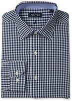 Nautica Men's Check Shirt with Spread Collar