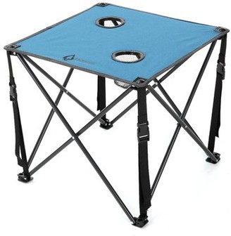 Folding Camping Table ARROWHEAD Outdoor Table Top Color: Blue