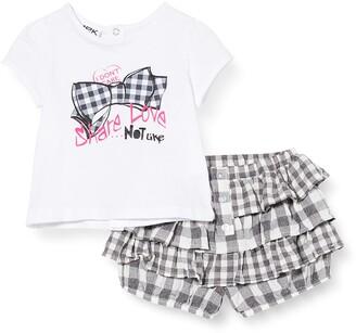 MEK Baby Girls' Compl.t-Shirt + Bloomer Vichy Clothing Set