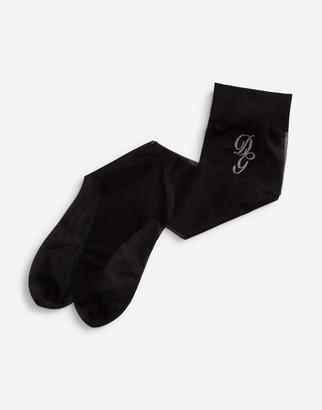 Dolce & Gabbana Nylon Socks With Embroidered Logo
