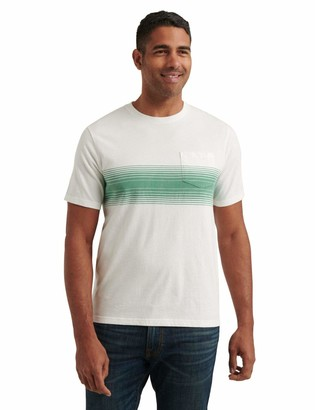 Lucky Brand Men's Short Sleeve Crew Neck Chest Sunset Pocket Tee