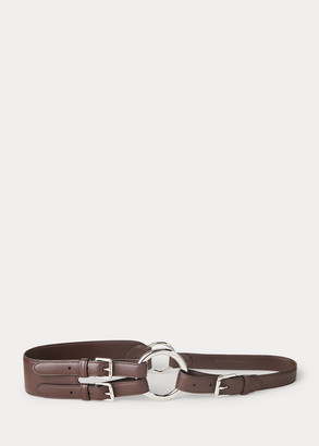 Ralph Lauren Tri-Strap O-Ring Calfskin Belt