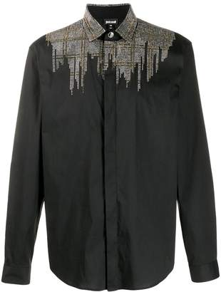 Just Cavalli sequin studded tailored shirt