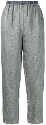 Forte Forte Glitter Embellished Cropped Trousers