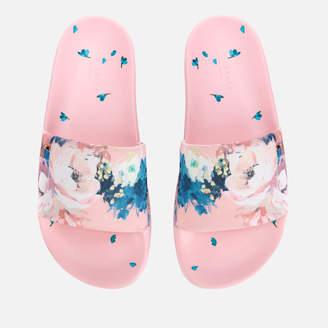 Ted Baker Women's Avelini Floral Slide Sandals - Light Pink