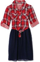 Speechless Plaid Fit and Flare Dress, Big Girls (7-16)