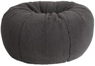 Pottery Barn Teen Sherpa Charcoal Bean Bag Chair