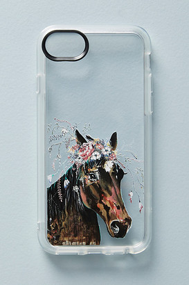 Casetify Horse in Bloom iPhone Case By in Pink Size S