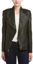 Via Spiga Asymmetrical Leather Jacket.
