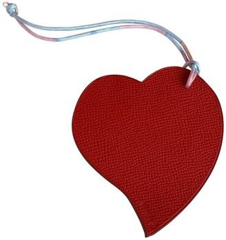 Hermã ̈S HermAs Petit H Red Leather Bag charms