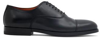 Santoni Leather Oxford Shoes - Black