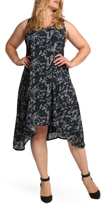 Standards & Practices Ace Camo Skull Sleeveless Midi Dress