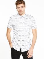 Very Short Sleeve Printed Shirt