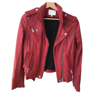 IRO Red Leather Jackets