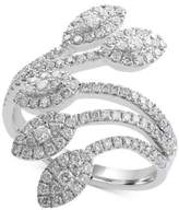 Effy Pavé Classica by Diamond Leaf Ring (9/10 ct. t.w.) in 14k White Gold