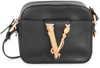 Versace Virtus Leather Camera Bag