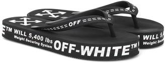 Off-White Off White Logo rubber sandals