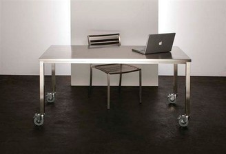 R & V Living Stainless Steel Dining Table