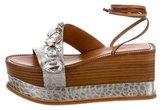 Roberto Cavalli Embellished Platform Sandals w/ Tags