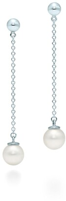 Tiffany & Co. Ziegfeld Collection drop earrings in sterling silver with pearls