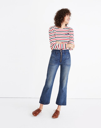 Madewell Rivet & Thread Extra-High Kick Out Jeans: Exposed Zip Edition