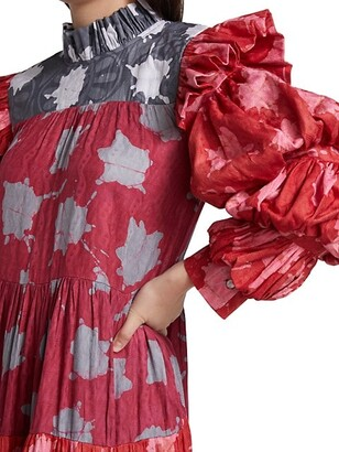 Busayo Femi Printed Cotton Maxi Dress