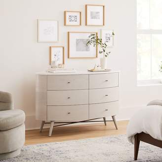 west elm Penelope 6-Drawer Dresser - Feather Gray w/ Marble Top
