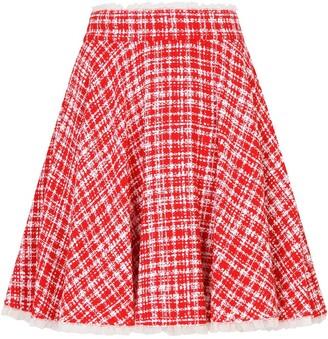 Dolce & Gabbana Tweed Circle Mini Skirt