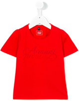 Armani Junior logo print T-shirt - kids - Cotton/Polyester - 7 yrs