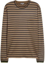 Lanvin Brown Striped Cotton Top