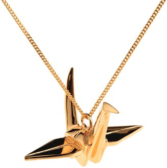 Origami Jewellery Crane Necklace Gold