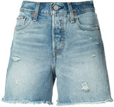 Levi's frayed denim shorts - women - Cotton - 27