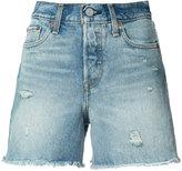 Levi's frayed denim shorts