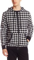 Bottoms Out Men's Buffalo Check Flannel Hoodie