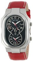 """Philip Stein Teslar Unisex 2-BK-CSTR """"Signature"""" Stainless Steel Watch with Leather Band"""