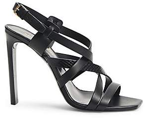 Saint Laurent Women's Bea Strappy Ayers & Leather Sandals