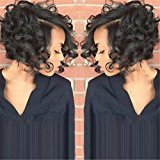 ATOZWIG Synthetic Short Wigs for Black Women Female Cut Wig Heat Resistant Synthetic Wigs Women Short Curly Hair