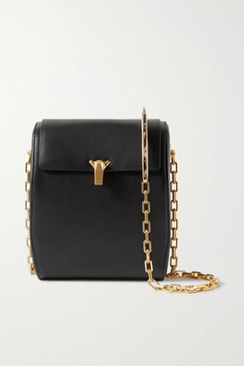 THE VOLON Po Box Leather Shoulder Bag - Black