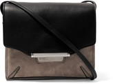 Rag & Bone Textured-leather and suede shoulder bag