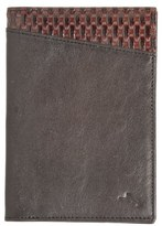 Tommy Bahama 'Basketweave' Leather Passport Case