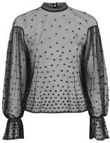 Topshop Scattered sequin blouse