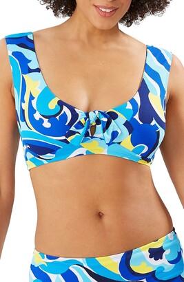 Tommy Bahama Swirl Tide Wide Strap Bikini Top