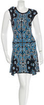 Torn By Ronny Kobo Abstract Patterned Knee-Length Dress w/ Tags
