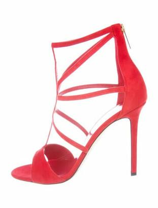 Tamara Mellon 2019 Love Suede Sandals w/ Tags Red