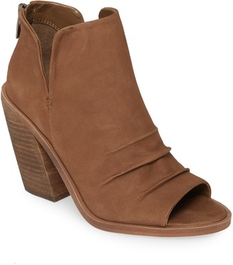 Vince Camuto Kreesi Ruched Leather Peep Toe Bootie