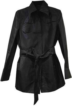 Brioni Black Silk Coat for Women
