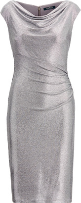 Ralph Lauren Metallic Cap-Sleeve Dress